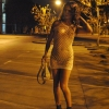 Seductive Tgirl Nikki Montero gets naked on the street